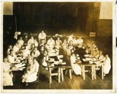 Photo of Jewish Women Making Bandages for War Effort