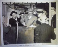 Picture of Rabbi Eliezer Silver Participating in a Cornerstone Laying Ceremony in Harrisburg PA