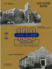 J.O.H. Alumni Association 100 Year Reunion Souvenir Book