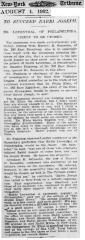 Article Regarding the Possible Successors to Chief Rabbi Jacob Joseph after his 1902 Death