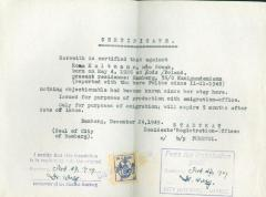 Police Certificate - for emigration