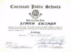 U.S. Citizenship Training Certificate