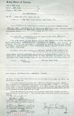 Affidavit for U.S. Citizenship Application - written for Gertrud Suse Khan