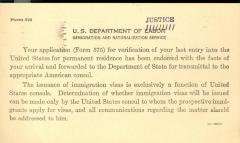 Notice from U.S. Department of Justice: Immigration and Naturalization Service
