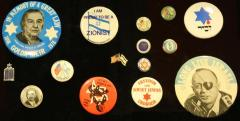 Jewish and Israeli Pins and Buttons