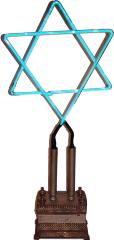 20th Century Neon Star of David