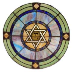 20th Century Stained Glass Window from The House of Israel Congregation (Ashland, KY)