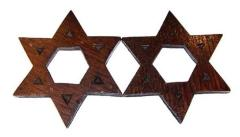 20th Century Carved Wooden Stars of David (Cincinnati, OH)
