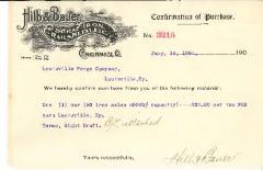 Hilb & Bauer Letterhead- Scrap Iron, Rails & Metal Merchants from Cincinnati, Ohio