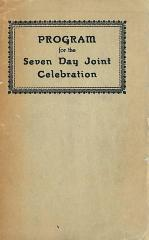 Program Booklet for 1927 Installation of Rabbi Chaim Fishel Epstein as Rabbi of Kneseth Israel Congregation