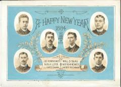 Rosh Hashanah / Happy New Year Card from 1884