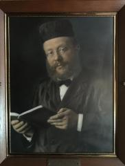 Painting of Rabbi Joseph Mayer Levin