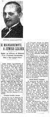 Article Regarding the Death of Rabbi Tzvi Hirsch Manischiwitz in 1943