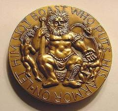 """David & Goliath Medal - """"Let Him Not Boast Who Puts His Armor On As He Who Puts It Off The Battle Done"""""""