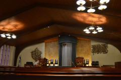 Temple Sholom Sanctuary Interior Photographs
