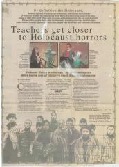 """Newspaper Article Regarding the """"Teaching the Holocaust"""" Workshop held at Hebrew Union College"""