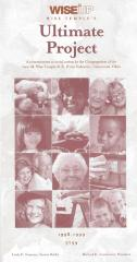 """""""Wise up, Wise Temple's Ultimate Project"""" Pamphlet Created by Isaac M. Wise emple (Cincinnati, OH)"""