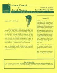 National Council of Jewish Women Council Connection - December/January, 2000 (Cincinnati, OH)
