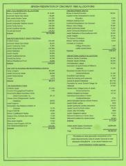 Flyer from Jewish Federation of Cincinnati with 1998 Allocations (Cincinnati, OH)