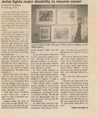 Article Regarding Grillo Exhibit at the University of Cincinnati Hillel Jewish Student Center (Cincinnati, OH)