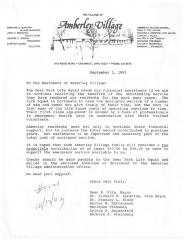 Amberly Village (Cincinnati, OH) - Letter of Solicitation, 1993