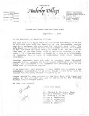 Amberly Village (Cincinnati, OH) - Letter of Solicitation, 1994