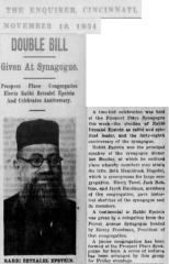 Article Regarding Rabbi Betzalel Epstein Elected as Rabbi of Prospect Place Synagogue, Cincinnati, Ohio