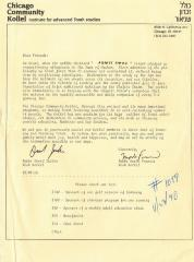 Chicago Community Kollel (Chicago, IL) - Letter of Solicitation, 1990
