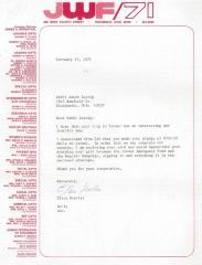 Cincinnati Jewish Welfare Fund (Cincinnati, OH) - Letter re: Splitting Pledge Fee between two Campaigns, 1971