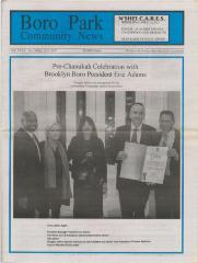 Boro Park News Newspaper dated April 2015