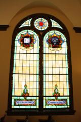 The Beth Israel Synagogue's stained glass windows, Hamilton, Ohio