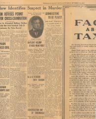 Article regarding the Cornertone Ceremony for Beth Israel Synagogue, 1930 (Hamilton, Ohio)