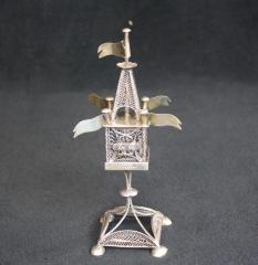 19th Century Sterling Silver Spice Box