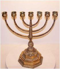 Early 20th Century German 7-Branch Menorah