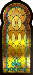 Stained Glass Window from the Virginia Street Temple, Charleston, WV