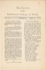 Bulletin of the Rabbinical College of Telshe, Vol I - Issue 2 - Telshe Yeshiva (Cleveland, Ohio)