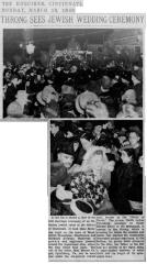Marriage of Rabbi Leib Potashnik (Cincinnati, Ohio) Articles from March 1940