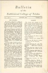 Bulletin of the Rabbinical College of Telshe, Vol I - Issue 3 - Telshe Yeshiva (Cleveland, Ohio) - January 1944