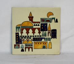 Ceramic Jerusalem Decoration from the Personal Collection of Milton Orchin