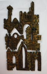 Wooden Jerusalem Art from the Personal Collection of Milton Orchin