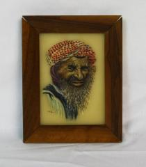 Painting of an Arab Man from the Personal Collection of Milton Orchin