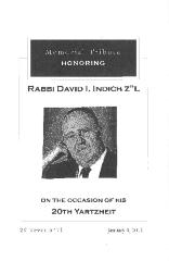 Golf Manor Synagogue (Cincinnati, Ohio) - Rabbi David I. Indich Memorial Tribute - 2011