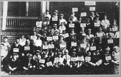 Yeshiva Etz Chaim Class Photo with Names written in