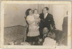 Picture of Rabbi Eleizer Silver at his Grandson Gerson's 1st Birthday Party, 1950