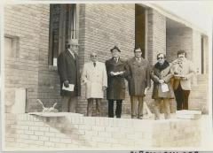 Photograph of Participants are the Cornerstone Ceremony of the Arthur Beerman Center, 1973