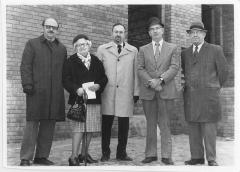 Photograph of Participants at the Arthur Beerman Center Cornerstone Ceremony, 1973