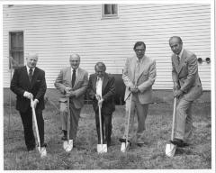 Photo from the Groundbreaking Ceremony of the Arthur Beerman Center, 1973