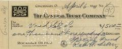 Check for $1,500 to the Vaad Hatzalah from Rabbi Eliezer Silver, 1941