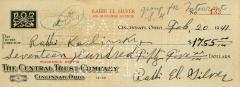 Check for $1,755 to Rabbi Karlinsky from Rabbi Eliezer Silver, 1940