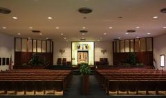 Interior photographs of Congregation Anshei Sfard's (Louisville, KY) Sanctuary at the Dutchman's Lane Location
